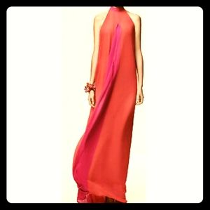 SELF-PORTRAIT 2 tone maxi dress
